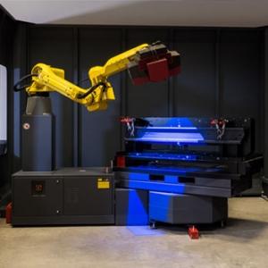 GOM Messzelle Roboterarm-Maschine 3D Laserschneiden Hujer-Lasertechnik Ihr Laserdienstleister Industrielle Laserbearbeitung 3D-Lasertechnik 2D-Lasertechnik Laserschweißen Rollenrichten CNC-Abkanten Buckelschweißen Laserschneiden 2D-Laserschneiden 3D-Laserschneiden